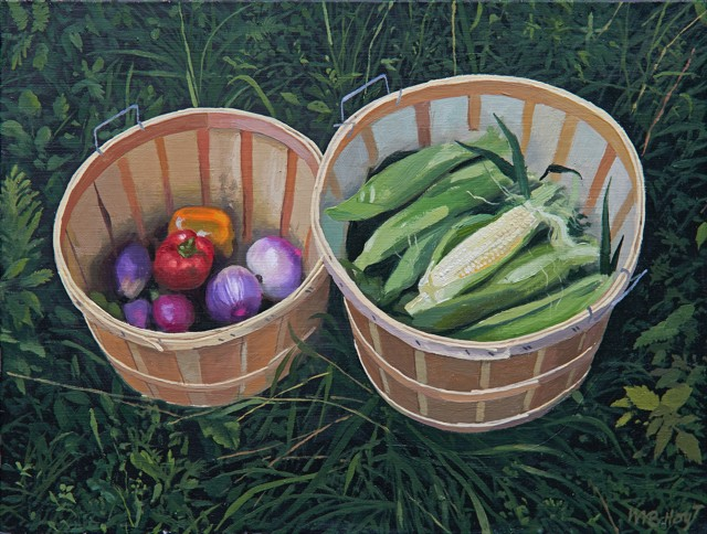 "William B. Hoyt | Summer Bounty | Oil on Panel | 9"" X 12"" 