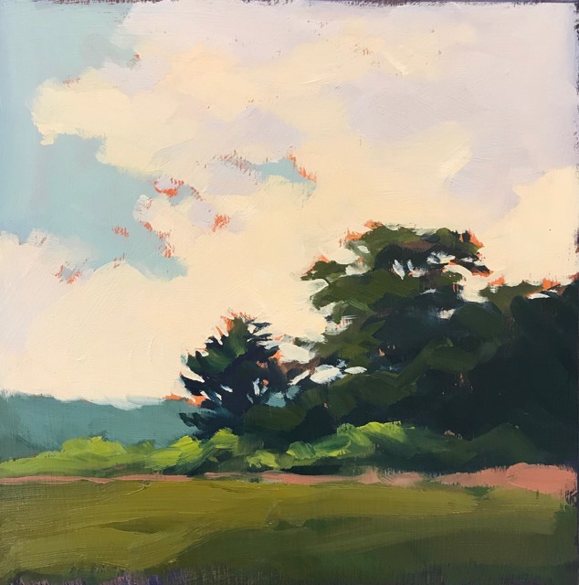 "Margaret Gerding | Close to Home - Day 29 | Oil on Panel | 8"" X 8"" 