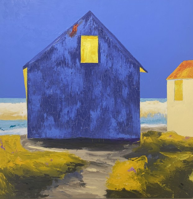 "Janis H. Sanders | Blue Shadows | Oil on Panel | 24"" X 24"" | $2,500.00"