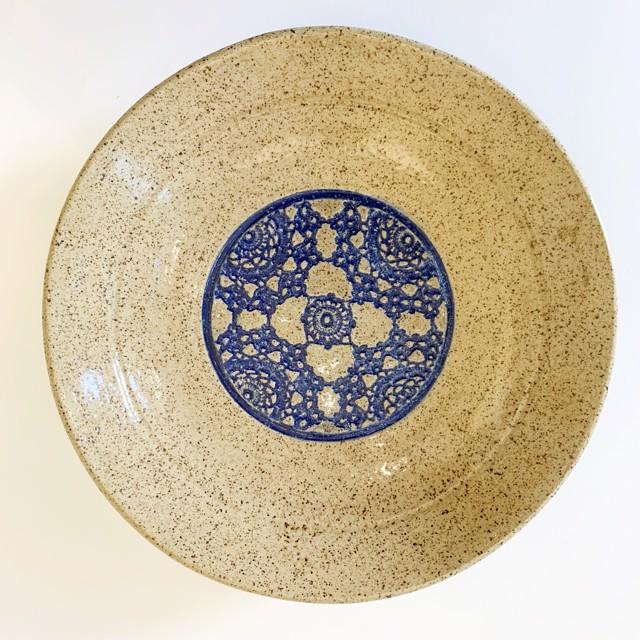 "Richard Winslow | Blue Inlay Dish | Ceramic | 2.5"" X 12"" | $95.00"