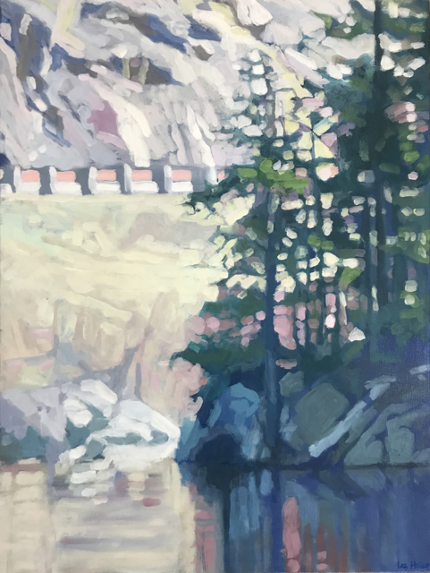 "Liz Hoag | Guardrail | Acrylic on Canvas | 24"" X 18"" | Sold"