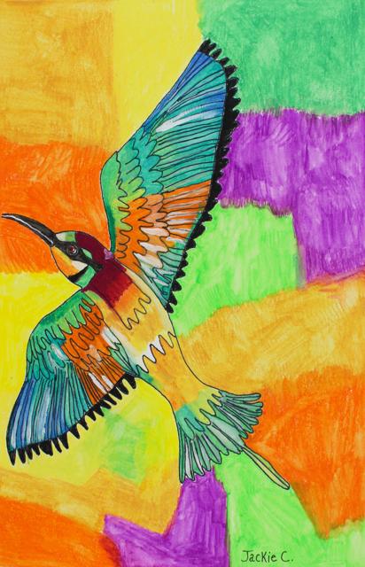 Bee Eater Bird (FRAMED)