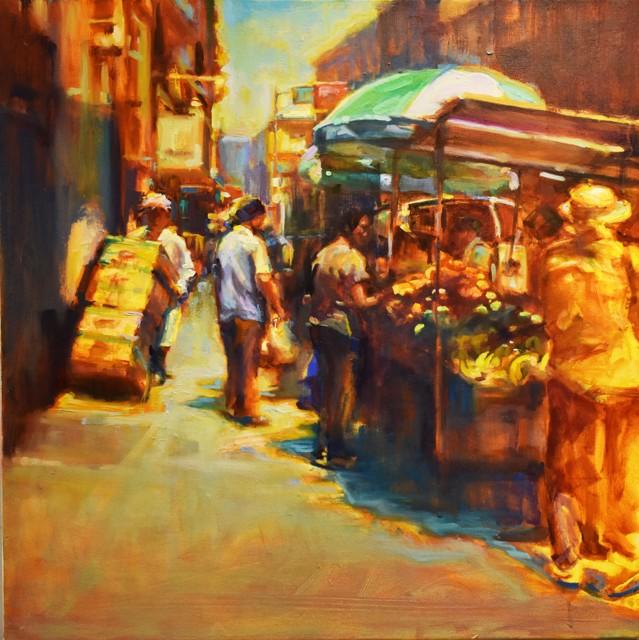 "Karen Bruson | Bananadana | Oil on Canvas | 24"" X 24"" | $1,095.00"