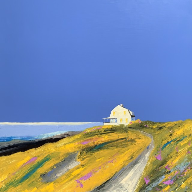 """Janis H. Sanders   A Summer Place   Oil on Panel   30.5"""" X 30.5""""   Sold"""