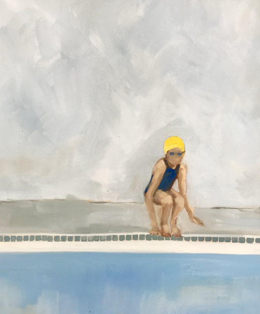 "Jill Matthews | Yellow Cap | Oil on Canvas | 20"" X 24"" 
