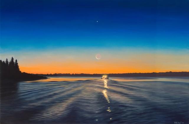 Moon & Jupiter 16 x 24