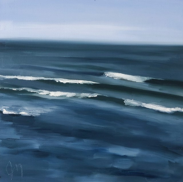 "Jill Matthews | Ogunquit Break | Oil on Canvas | 12"" X 12"" 