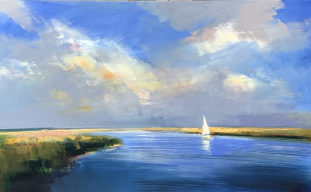 "Craig Mooney | Homeward Sail | Oil on Canvas | 36"" X 60"" 