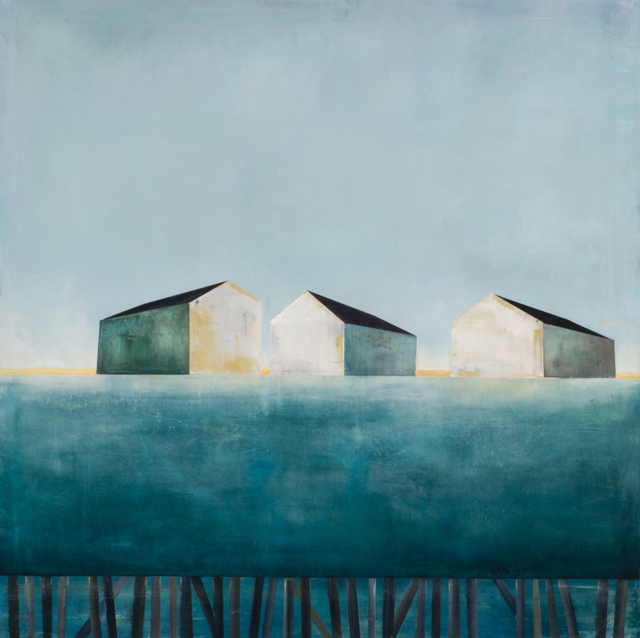"Ingunn Milla Joergensen | Cape Porpoise Morning | Oil on Canvas | 36"" X 36"" | Sold"