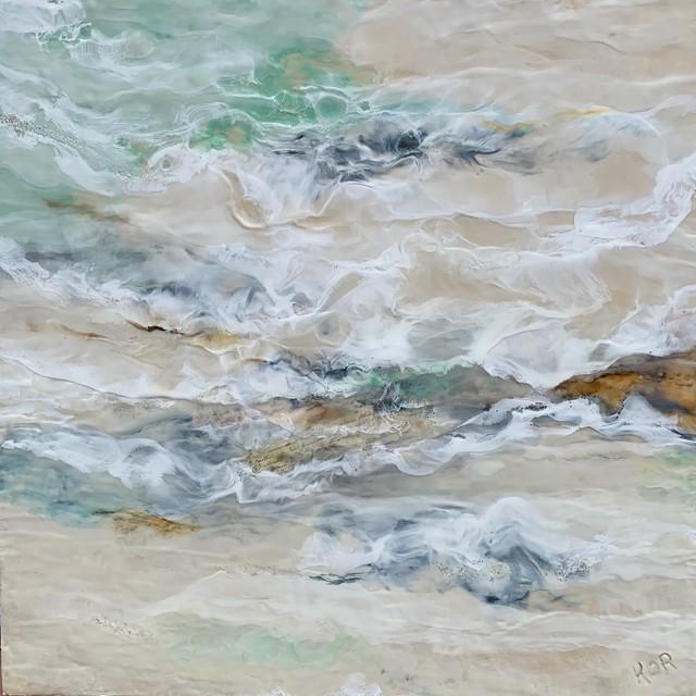 "Kathy Ostrander Roberts | Solitude | Encaustic on Birch Panel | 36"" X 36"" | Sold"