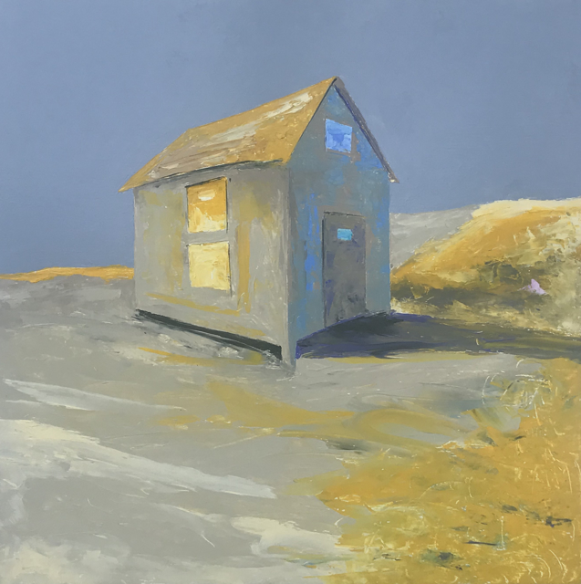 "Janis H. Sanders | Sand Shadows | Oil | 24"" X 24"" | Sold"