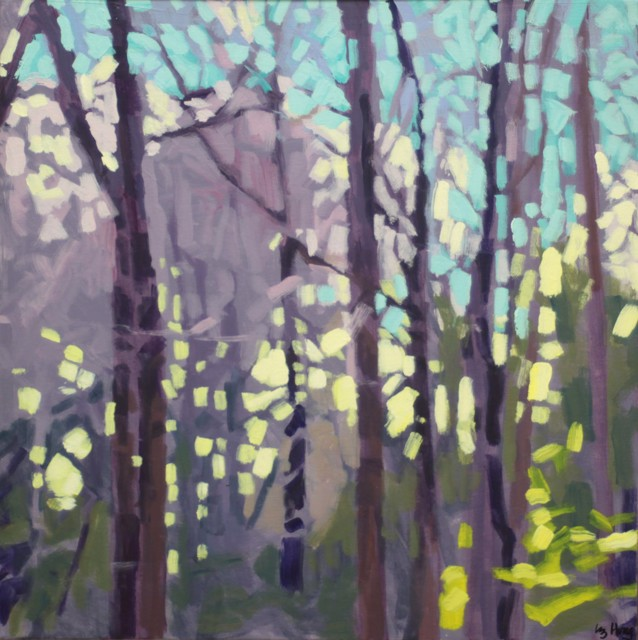 "Liz Hoag | Off the Trail #1 | Acrylic on Canvas | 18"" X 18"" | Sold"