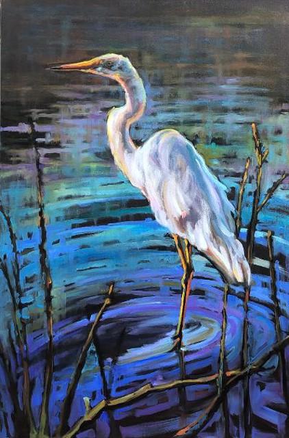 "Karen Bruson | Not Your Average Bird | Oil on Canvas | 36"" X 24"" | Sold"