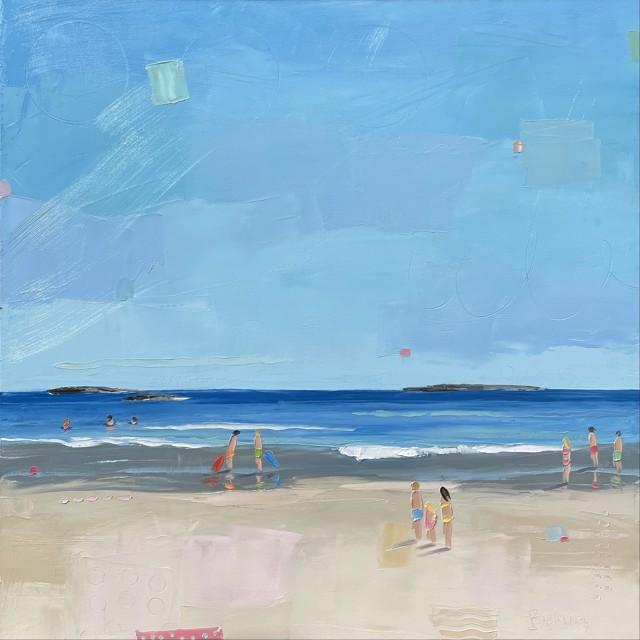 "Bethany Harper Williams   Smell the Salt Air   Oil on Canvas   25"" X 25""   $2,100.00"