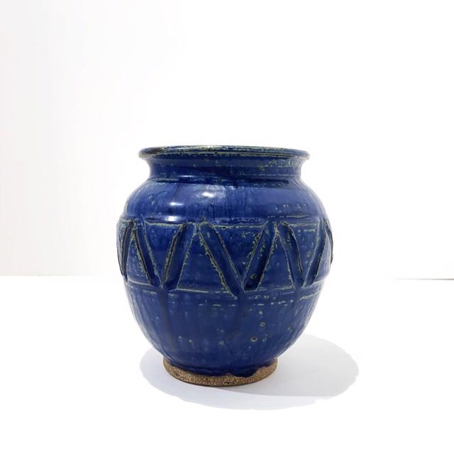 "Richard Winslow | Blue Vase | Ceramic | 6.5"" X 6.5"" | Sold"