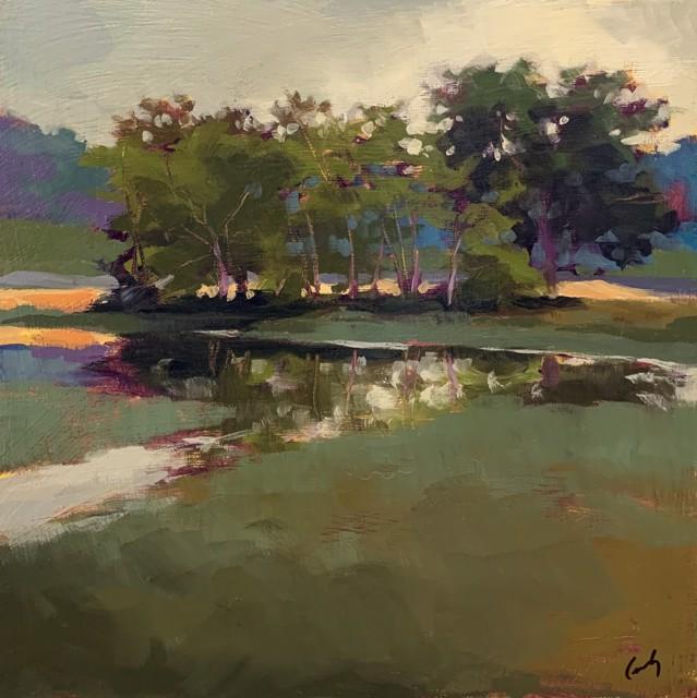 "Margaret Gerding   Maine Moments - Day 5   Oil on Panel   10"" X 10""   Sold"