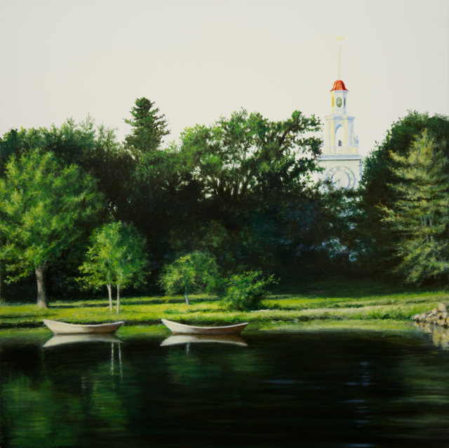 "Alex Dunwoodie | Kennebunk River | Oil on Panel | 12"" X 12"" | Sold"