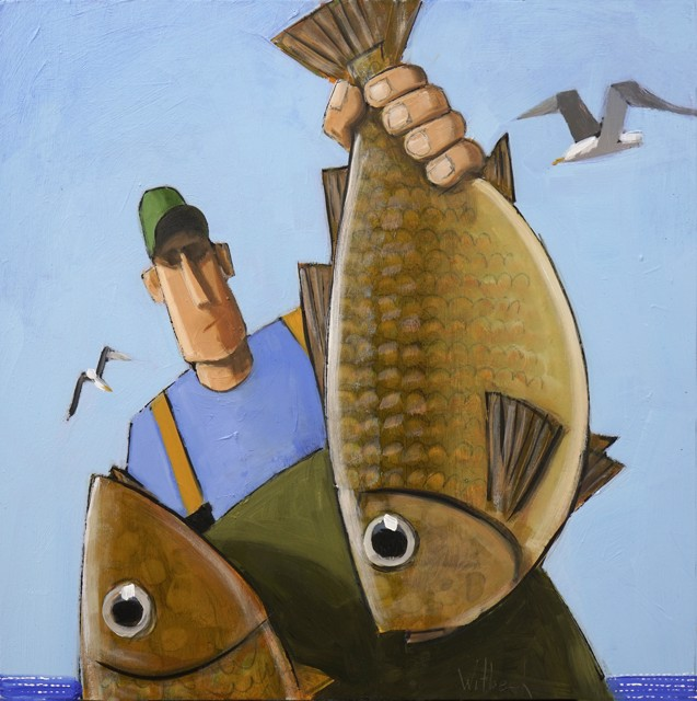 """David Witbeck   Mac   Oil on Panel   12"""" X 12""""   $1,200.00"""