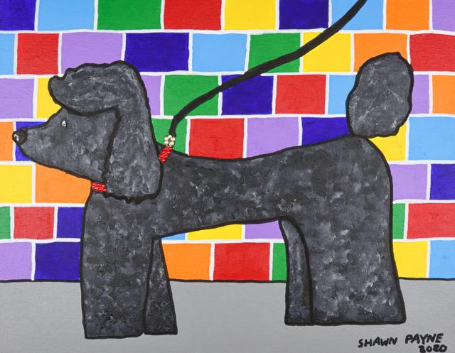 Stylish Poodle (FRAMED)
