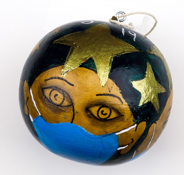 First Responders (gourd ornament) by Toni Lane