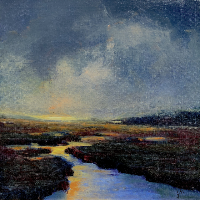 "Julie Houck | The Lifting Fog | Oil on Canvas Mounted on Panel | 10"" X 10"" 