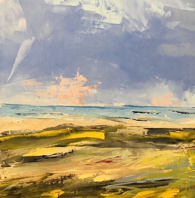 "Janis H. Sanders | Summer Shoreline 4 | Oil on Panel | 12"" X 12"" | Sold"