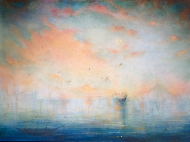 "John LeCours | Nederzee Daydream, A Poet's Triumph | Oil on Canvas | 36"" X 48"" 