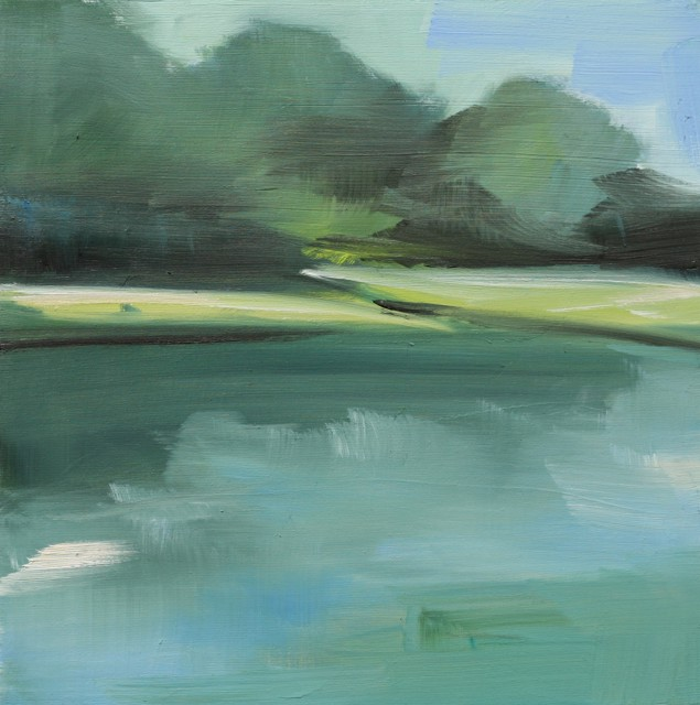 "Ingunn Milla Joergensen | Kennebunk River Sketch 4 | Oil on Canvas | 10"" X 10"" 