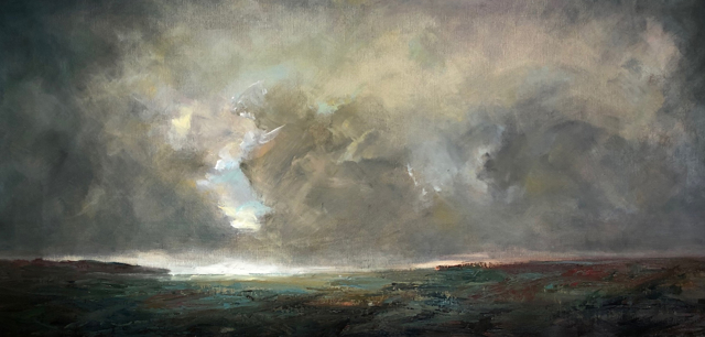 "Julie Houck | The Tempest | Oil on Linen Mounted on Panel | 26.75"" X 51"" 