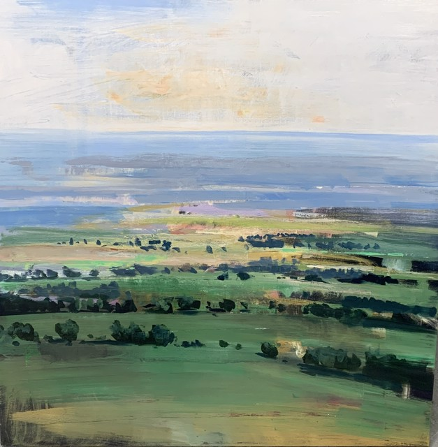 "Craig Mooney | Peninsula | Oil on Canvas | 48"" X 48"" 
