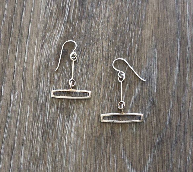 Earring Small Link with Rectangle