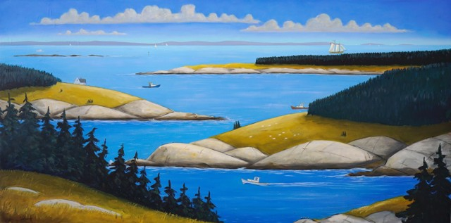"David Witbeck | Maine Reverie | Oil on Panel | 30"" X 60"" 