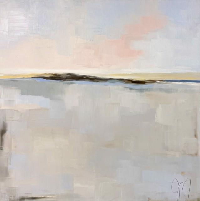 "Jill Matthews | Bleached Sand I | Oil | 36"" X 36"" | Sold"