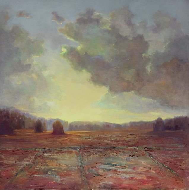 "Julie Houck | Across the Marsh #1 | Oil on Linen | 38"" X 38"" 