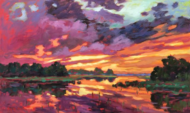 Sunset on Tripp's Creek, II