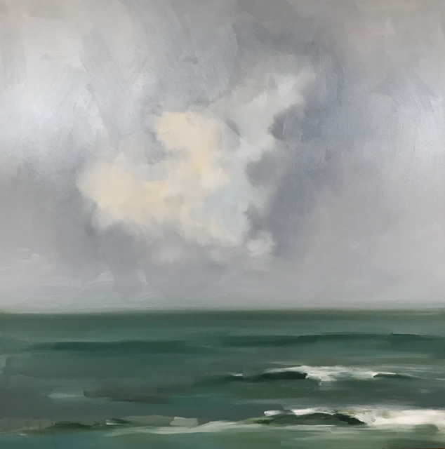 "Jill Matthews | Cloud Break | Oil on Canvas | 36"" X 36"" 
