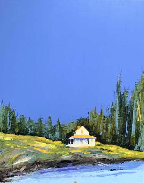 """Janis H. Sanders   Roses & Rocks   Oil on Panel   30"""" X 24""""   Sold"""