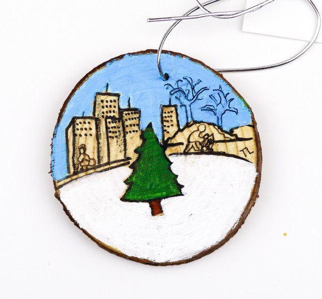 Christmas in the City (ornament) by Toni Lane