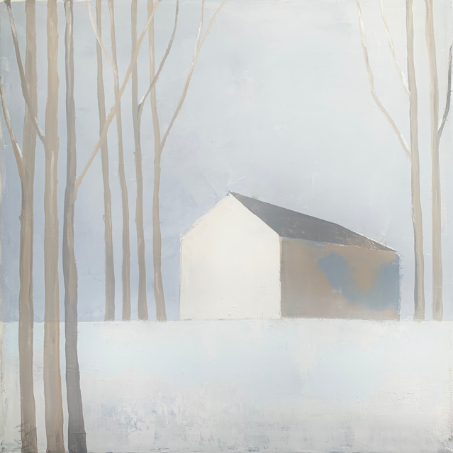 "Ingunn Milla Joergensen | Quiet Barn | Oil on Canvas | 14"" X 14"" 
