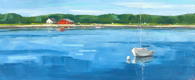 "Bethany Harper Williams | Along the Shore | Oil on Canvas | 36"" X 15"" 