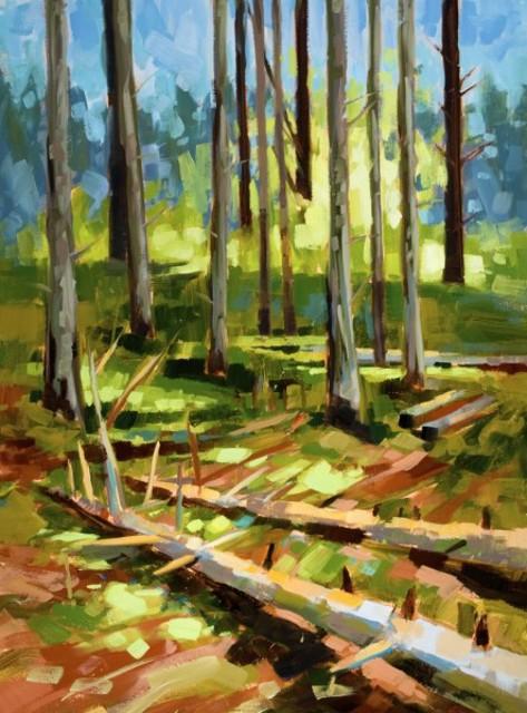 "Philip Frey | Forest Floor | Oil on Linen | 24"" X 18"" | $2,600.00"