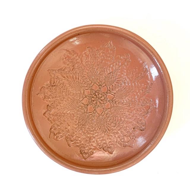 "Richard Winslow | Pink Textured Dish | Ceramic | 3"" X 13.5"" | $125.00"