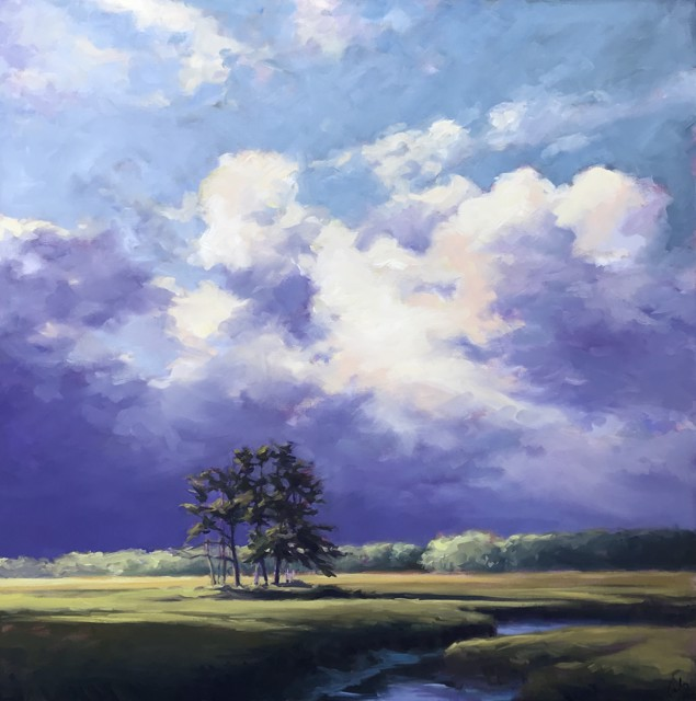 "Margaret Gerding | Ending Light | Oil on Canvas | 40"" X 40"" 