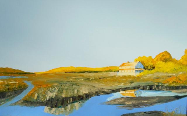 "Janis H. Sanders | Marsh Glow - Artist's Choice, People's Choice #1 2019 | Oil on Panel | 30"" X 48"" | Sold"