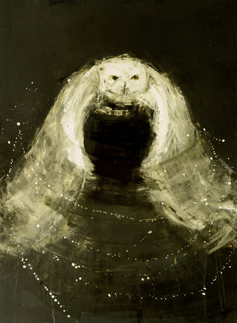 "Rebecca Kinkead | Night Owl #3 | Oil and Wax on Linen | 54"" X 40"" | $8,500.00"