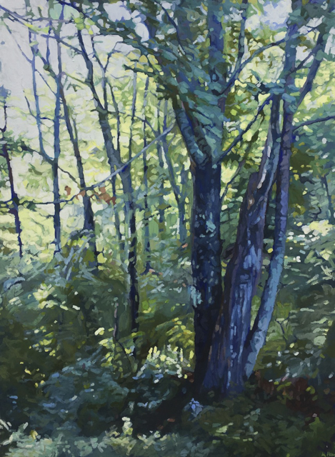 "Liz Hoag | After the Rain | Acrylic | 48"" X 36"" | Sold"