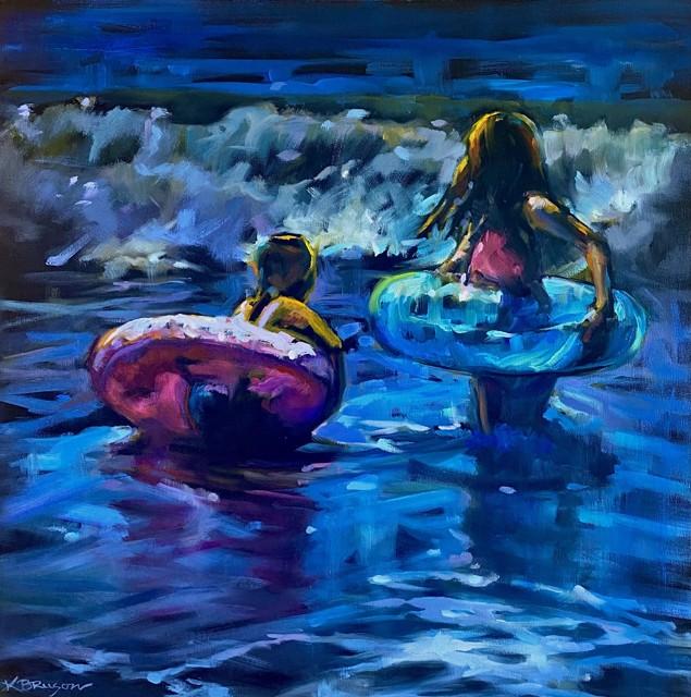 "Karen Bruson | Get Ready | Oil on Canvas | 24"" X 24"" | $1,095.00"