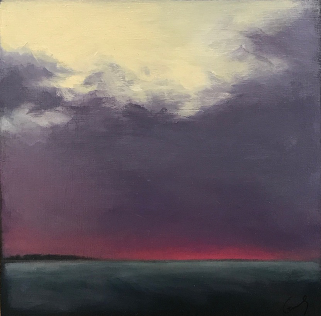 "Margaret Gerding | Timber Island II | Oil on Panel | 10"" X 10"" | $1,200.00"