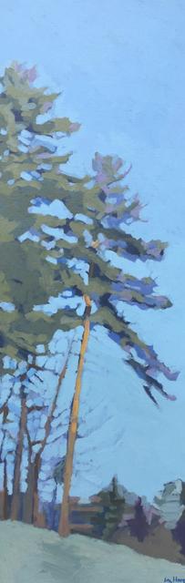 "Liz Hoag | Leaning | Acrylic | 36"" X 12"" | Sold"