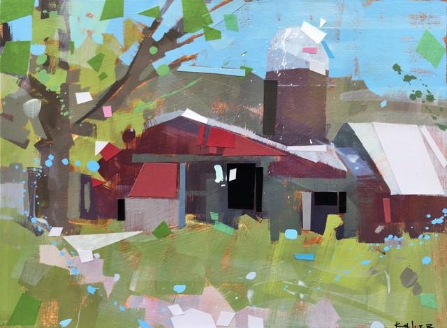 "Ryan Kohler | Unbroken | Mixed Media on Canvas | 12"" X 16"" | Sold"